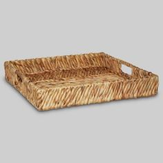Bring texture and style to your space with this Water Hyacinth Woven Tray from Threshold™. Display it on your bathroom vanity as a place to keep lotion bottles, perfume, your toothbrush tumbler and go-to hair products. The side handles make it easy to carry from room to room, so it's simple to switch up your decor when you need an update.