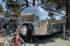 Photo of 1952 Airstream Cruiser Trailer With Beautiful Polished Duralumin Skin