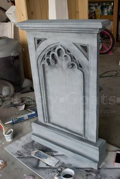 Photo 7 of 7 from 2013 Yard Haunt Haunted Mansion Halloween, Halloween Graveyard, Halloween Tombstones, Theme Halloween, Halloween 2016, Outdoor Halloween, Halloween Projects, Diy Halloween Decorations, Halloween House