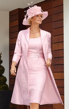 2015 Plus Size Wedding Party Dresses Pink Mother of the Bride Lace Dresses with Jacket Knee Length Vestido Para Mae Da Noiva Mother Of Bride Outfits, Mother Of Groom Dresses, Mothers Dresses, Mother Of The Bride, Wedding Party Dresses, Wedding Attire, Mob Dresses, Bride Dresses, Lace Dresses
