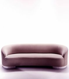 "Vladimir Kagan Classics Couture New Moon Sofa 94""L 38""D 30""H Seat height: 16"" COM: 12 yards"