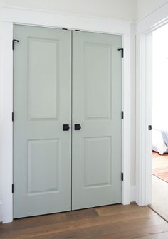 pale green doors