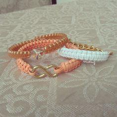 My DIY Heart and Infinity bracelets!