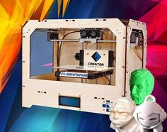 La impresora 3d de un cabezal con resolución de 100 micrones Creator, esta disponible para entrega inmediata a solo $ 349.990 con iva - para todas las creaciones 3d - http://www.suministro.cl/product_p/7001010001.htm