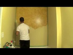 2-Color Faux Painting Instruction by The Woolie (How To Paint Your Walls) #FauxPainting - YouTube
