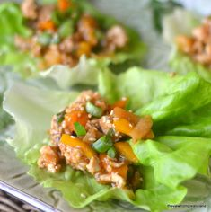 Spicy Ginger Lettuce Wraps by theviewfromgreatisland #Lettuce_Wraps #Chicken #Ginger #Healthy