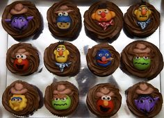 """Sesame Street Cupcakes from the """"Baked in Vancouver"""" website."""