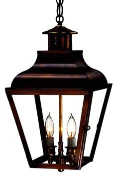 Portland Pendant Hanging Light - Brass Copper Lantern Home Lighting - Lanternland.com