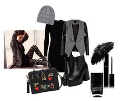 """""""#dark"""" by robynsrosee on Polyvore featuring moda, Polo Ralph Lauren, Dolce&Gabbana, Toast, Nails Inc. e Chanel"""