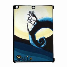 The Nightmare Before Christmas And Night A Beautifull Full Moon iPad Air Case