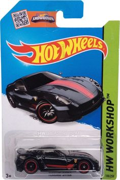 """is part of the HW Workshop series series and the 2015 Super Treasure Hunt set. The Spectraflame black car features """"TH"""" on the sides and boasts red stripes and the Ferrari logo … Custom Hot Wheels, Hot Wheels Cars, Hot Cars, Super Treasure Hunt, Ford Mustang Boss, Remote Control Cars, Small Cars, Custom Trucks, Diecast"""