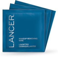 Lancer Makeup Removing Wipes (335 BRL) ❤ liked on Polyvore featuring beauty products, skincare, face care, makeup remover, beauty, filler, oil free makeup remover and lancer dermatology