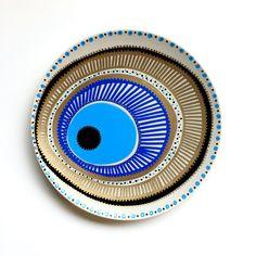 Boho Decor - Tribal Decor - Mandala Decor - Blue Spiral Decor - Wall Hanging - Decorative Plate - Original Boho Decor - Boho Art Decor - Art by biancafreitas on Etsy