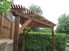 Triangular Wooden Corner Pergola                                                                                                                                                     More