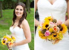 Yellow brides bouquet from Iowa Wedding Photography