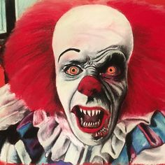 """chantalhandley: """"New pastel drawing! Stephen Kings IT! Evil Clowns, Scary Clowns, Horror Drawing, Horror Art, Stephen King Film, Stephen Kings, Scary Movies, Horror Movies, Pennywise Tattoo"""