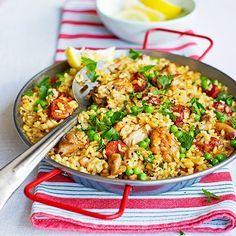 Paella met kip & chorizo recept - Jamie magazine