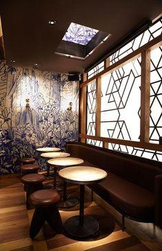 Asian Interior Design, Chinese Interior, Bar Interior, Restaurant Interior Design, Contemporary Interior, Oriental Restaurant, Chinese Restaurant, Cafe Restaurant, Chinese Bar