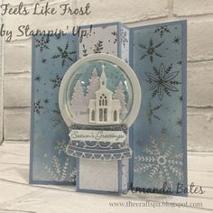 The Craft Spa - Stampin' Up! UK independent demonstrator - Order Stampin Up in UK: Still Scenes and Feels Like Frost Pop Out Panel card Pop Up Christmas Cards, Christmas Snow Globes, Homemade Christmas Cards, Stampin Up Christmas, Xmas Cards, Christmas Crafts, Christmas 2019, Fun Fold Cards, Shaker Cards