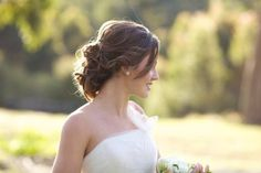 Style Me Pretty | Gallery - looking for brunette low updo inspiration