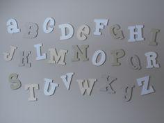 Alphabet for nursery wall