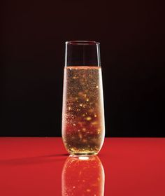 Spiked Sparkling Cider Made with Goldschlager...yum!