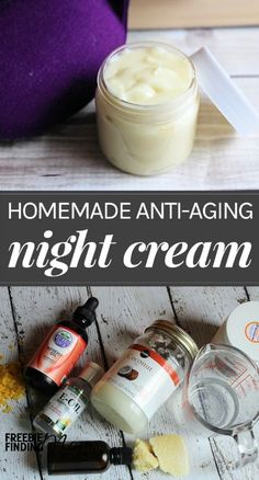 Anti Aging Remedies How would you like to fight the signs of aging, improve elasticity, and… - Ward off the signs of aging with this homemade night cream recipe. This night cream recipe takes just a few minutes Homemade Skin Care, Homemade Beauty Products, Diy Skin Care, Homemade Face Moisturizer, Homemade Eye Cream, Natural Face Moisturizer, Creme Anti Age, Anti Aging Night Cream, Anti Aging Tips