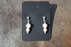 Rose Quartz and Glass Pearl Hypoallergenic by SlatedInSpirit