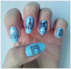 Alphabet nail art challenge - Letter J