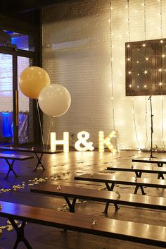 lights as simple party decor