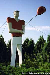 roadside attraction colossus   Zombie Golf Giant, Garrison, North Dakota {Only in America. From the amazing to the utter rubbish via Roadside America}