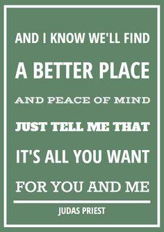 romantische quote Judas Priest