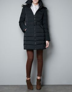 OTTOMAN PUFFER JACKET WITH FUR HOOD - Woman - New this week - ZARA United States