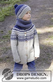 Little Adventure - Knitted DROPS jumper worked top down with round yoke and…