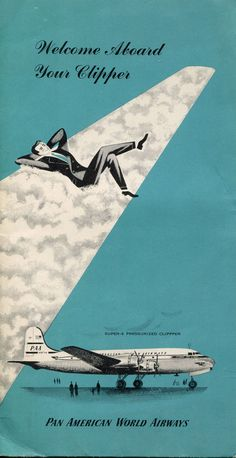 """Pan American World Airways """"Welcome Aboard Your Clipper"""" Inflight Brochure (1950s)"""