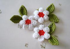 Crochet Flowers by OnelifeRosen on Etsy, $3.50