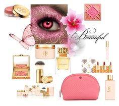 """""""Beauty by Tory Burch"""" by freida-adams ❤ liked on Polyvore featuring beauty and Tory Burch"""