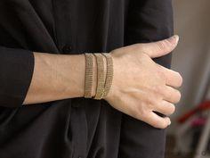 14913752a09fe Bracelet maille 3 tours doré à l'or fin Atelier De Famille, Bijoux  Personnalisés
