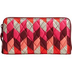 Vera Bradley RFID Georgia Wallet - Bohemian Chevron - Women's Wallets ($48) ❤ liked on Polyvore featuring bags, wallets, print, pattern wallet, bohemian style bags, boho bags, print wallets and chevron print bag