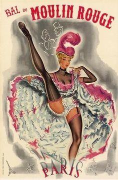 Pigalle Quarter, Moulin Rouge, Paris XVIII by jannyshere Le Moulin Rouge Paris, Art Amour, Gravure Illustration, Retro Poster, Poster Vintage, Arte Pop, Advertising Poster, Cool Posters, Art Posters