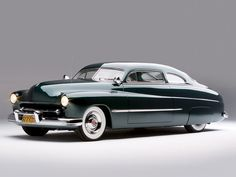 A sleek, beautiful 1949 Mercury Coupe. vintage 1940 cars