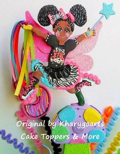 Skating Fairy  Birthday Cake Topper for girls  or Party Centerpiece | kharygoarts - Children's on ArtFire