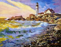 Dawn Breaks Cape Elizabeth Plein Air Art Print by David Lloyd Glover. All prints are professionally printed, packaged, and shipped within 3 - 4 business days. Choose from multiple sizes and hundreds of frame and mat options. Jazz Artists, Artists Like, Impressionist Landscape, Impressionist Paintings, Impressionism, Pop Art Images, Cape Elizabeth, Lighthouse Art, Thing 1