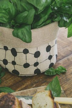 CLOTH Hessian Duo - Spotcheck Black - CLOTH Collection - Baskets & Storage - The Dharma Door