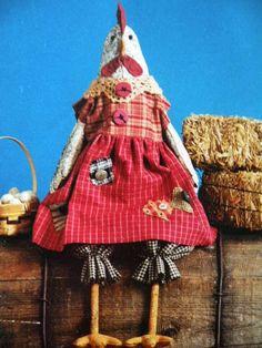 Primitive Chicken Doll Pattern--Carol Cackleberry