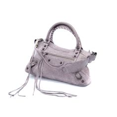Balenciaga Classic First Purple Leather Shoulder Bag
