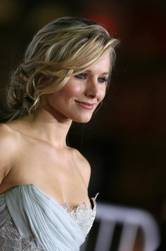 Kristen Bell Hair - love this updo! Thinking of doing something like this for my own wedding.