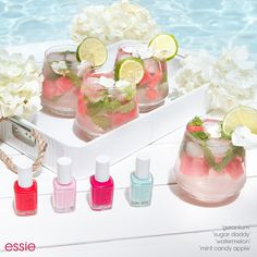Cheers! Shake up one part 'sugar daddy', two parts 'watermelon' and a splash of 'mint candy apple' for the perfect mani.