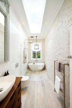 19 narrow bathroom designs that everyone need to see bathrooms rh pinterest com