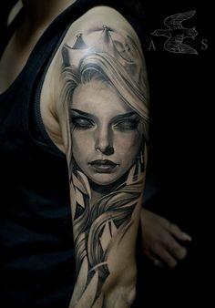 Mysterious queen tattoo